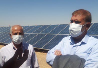 بازدید رئیس کانون بازنشستگان سپاه استان و مدیر عامل تعاونی کنترل سازه زاینده رود از پروژه نیروگاه خورشیدی